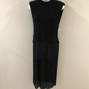 🔴 4/$15 Sheer bottom & knit bodice dress